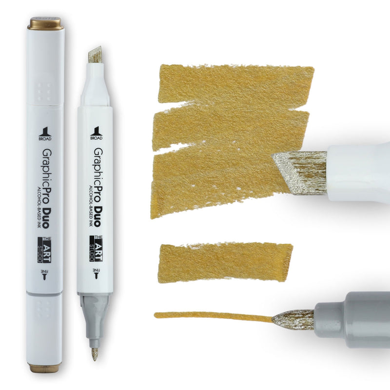 The Art Studio GraphicPro Duo Marker Gold
