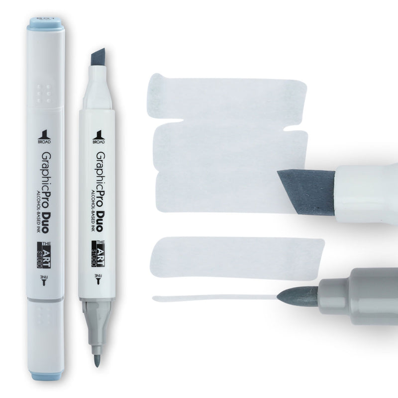 Light Gray The Art Studio GraphicPro Duo Marker Blue Grey 1 Pens