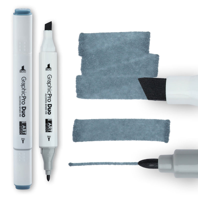 The Art Studio GraphicPro Duo Marker Blue Grey 9