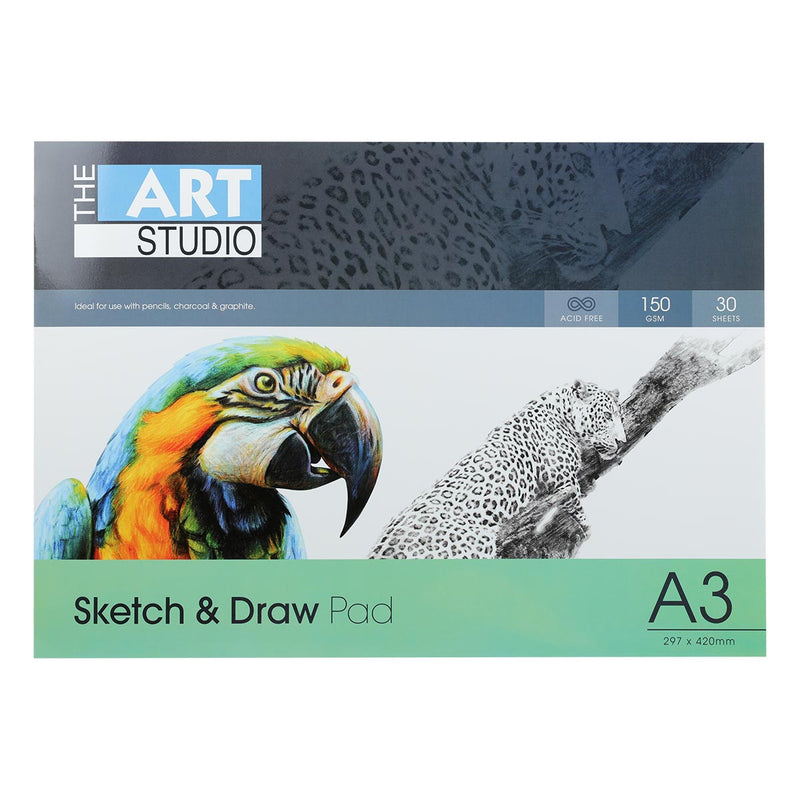The Art Studio A3 Sketch & Draw 150gsm 30 Sheets
