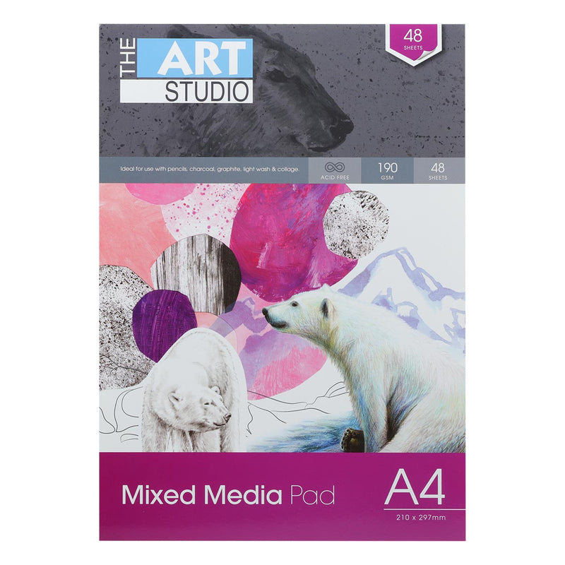 Art Studio A4 Mixed Media 190gsm 48 Sheets