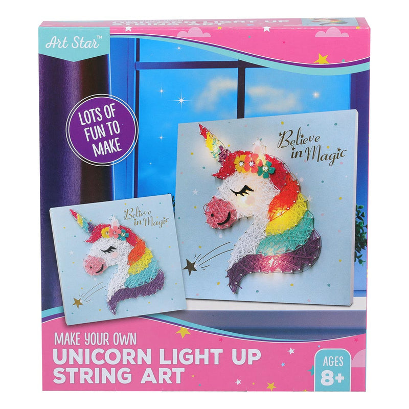 Art Star Make Your Own Unicorn Light Up String Art Kit