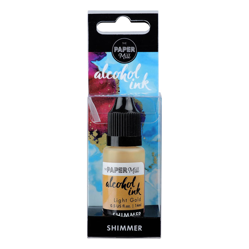 Sky Blue The Paper Mill Shimmer Alcohol Ink Light Gold 14ml Ink