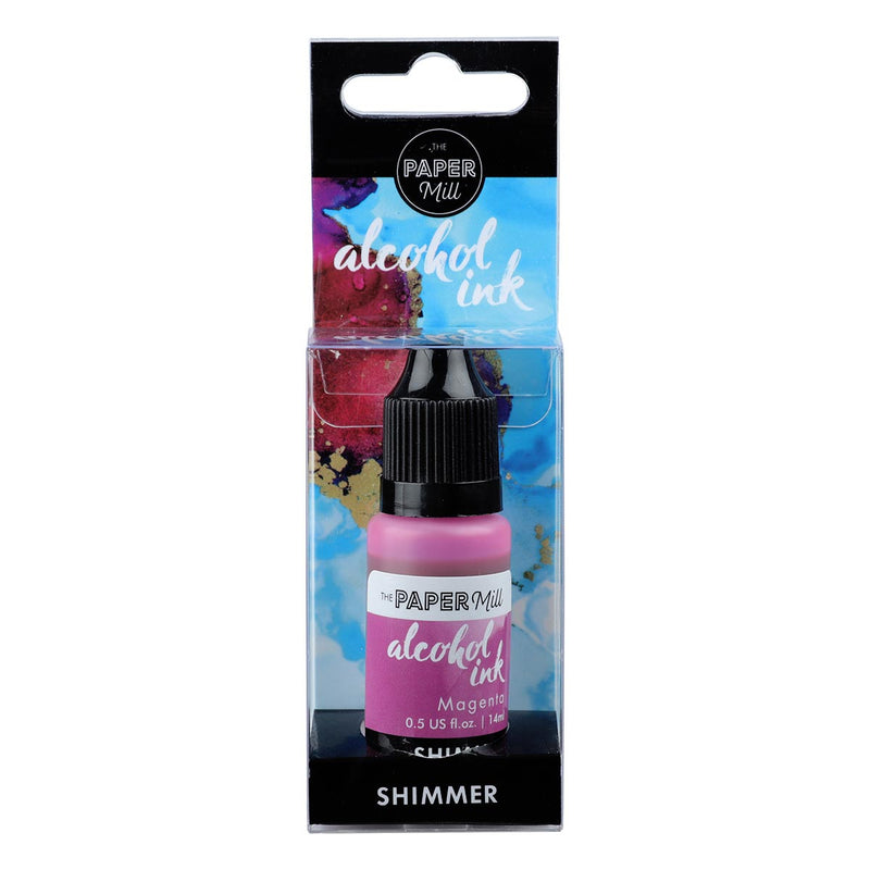 Paper Mill Shimmer Alcohol Ink Magenta 14ml