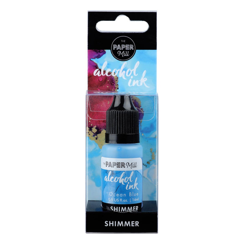 The Paper Mill Shimmer Alcohol Ink Ocean Blue 14ml