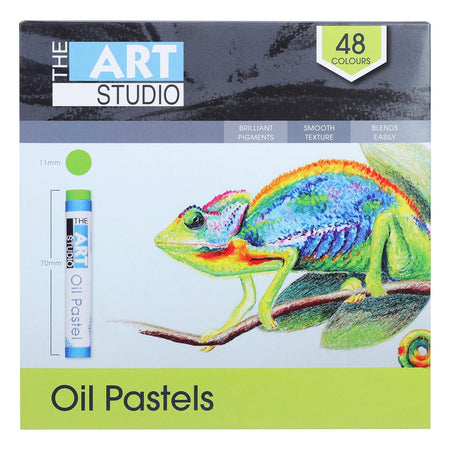 Lavender The Art Studio Oil Pastels Assorted Colours 48 Piece Set Pastels And Charcoal