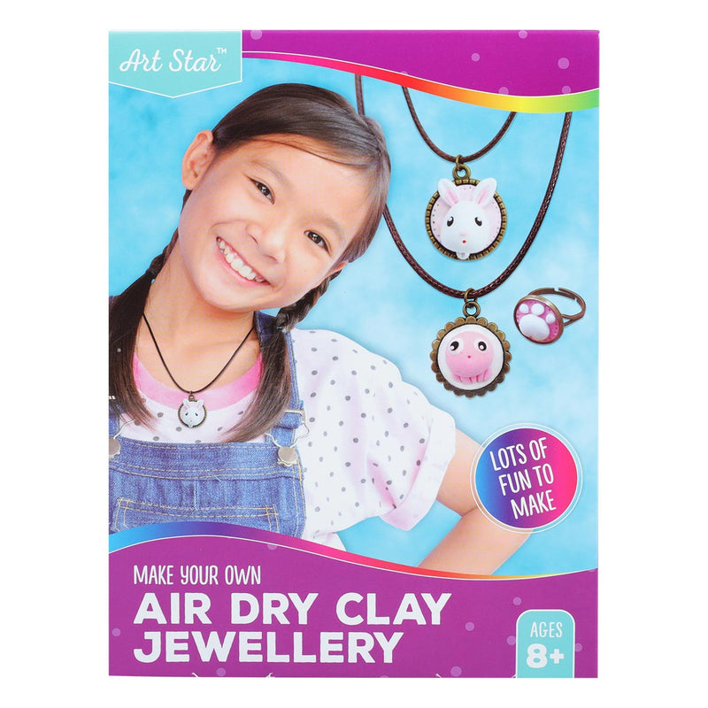 Art Star Make Your Own Air Dry Clay Jewellery Bunny Makes 3