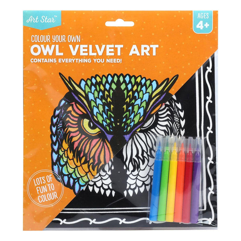 Art Star Colour Your Own Owl Velvet Art Makes 1