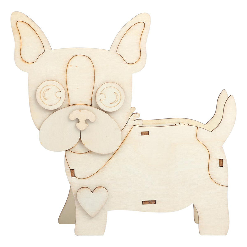 Urban Crafter 3D Plywood Standing French Bulldog