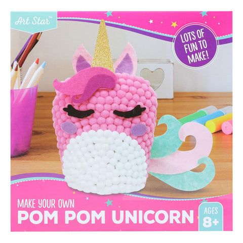 Artstar MYO Unicorn Pom Pom Art Makes 1