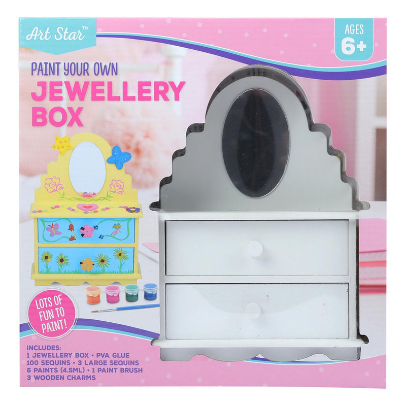 Art Star Paint Your Own Jewellery Box