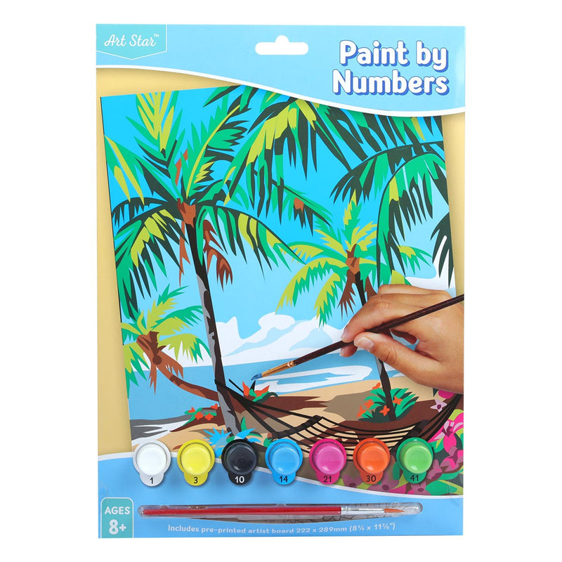 Art Star Paint By Number Small Tropical Island