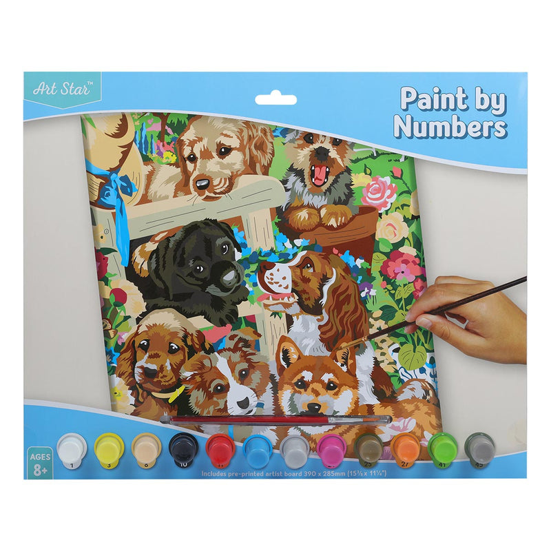 Art Star Paint By Number Large Puppy Friends
