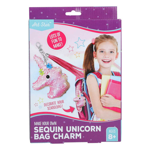 Artstar DIY Sequins Unicorn Head Bag Charm Kit