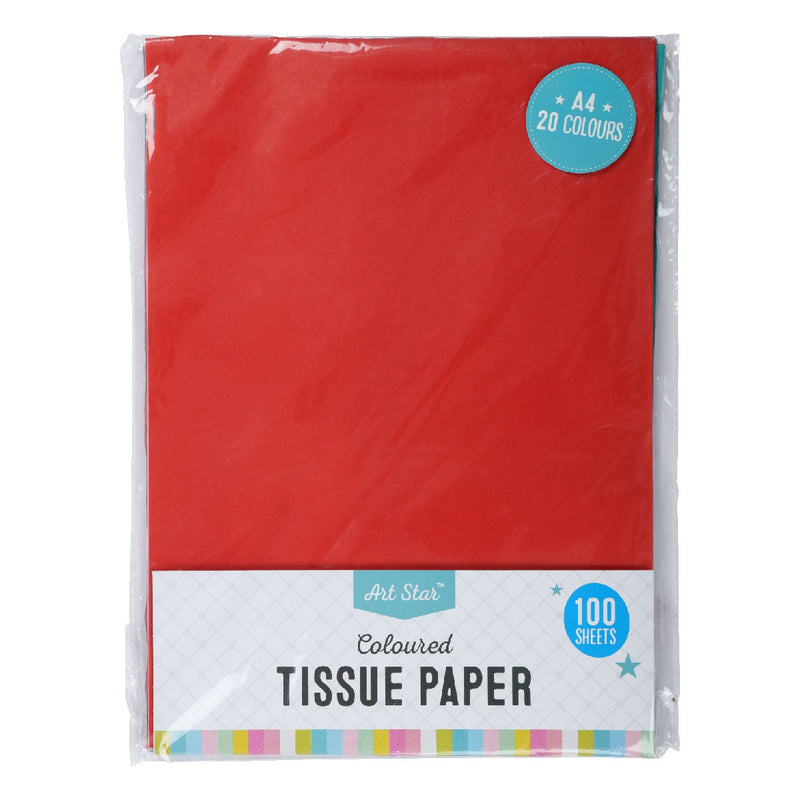 Art Star A4 Coloured Tissue Paper 100 sheets