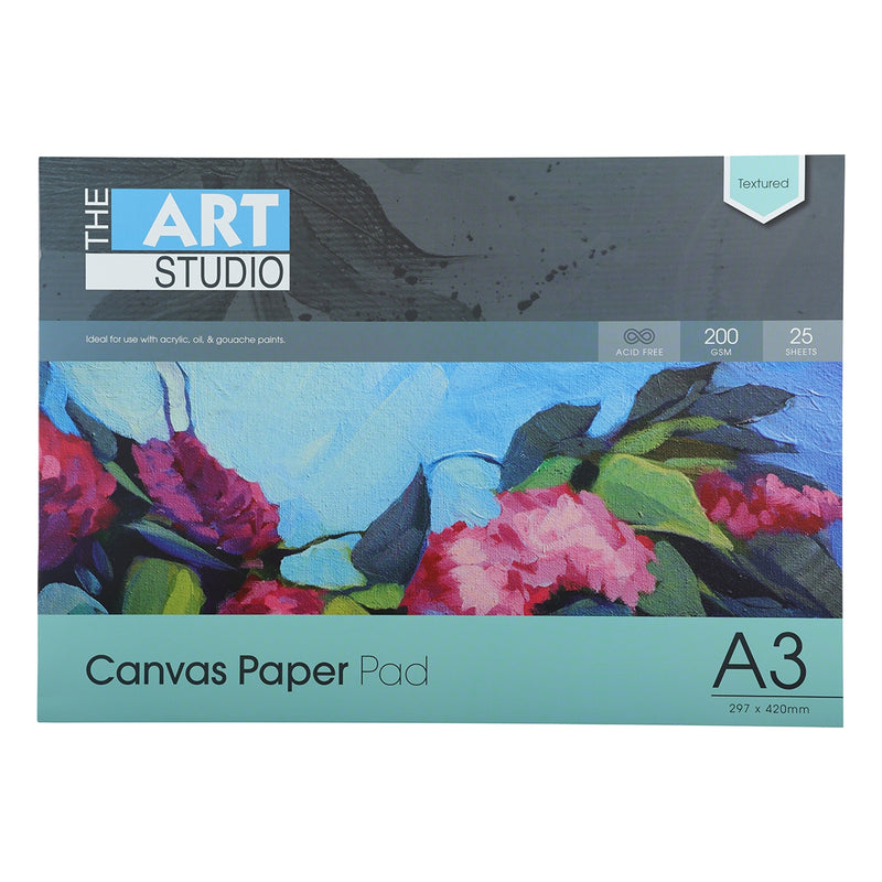 Art Studio A3 Canvas Textured Paper 200gsm 25 Shts