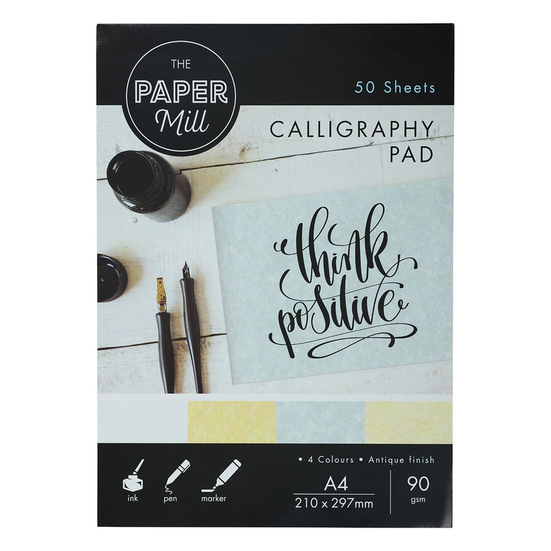 The Paper Mill A4 Calligraphy Pad 50 Sheets