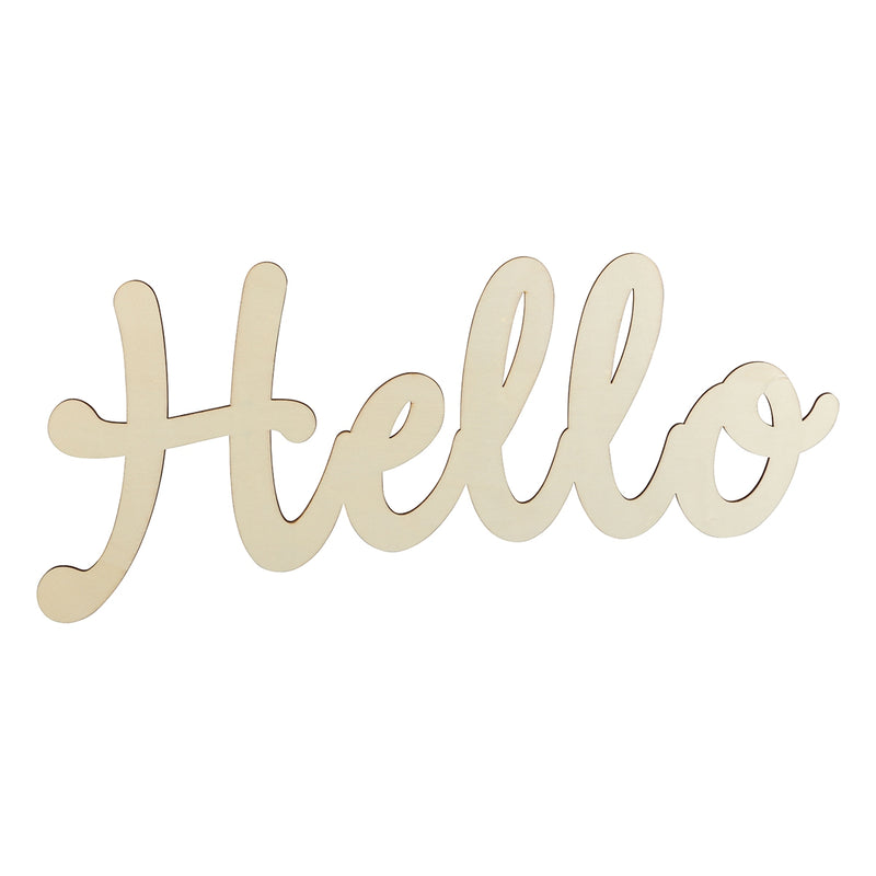 Urban Crafter Plywood Hello Sign 45 x 20cm