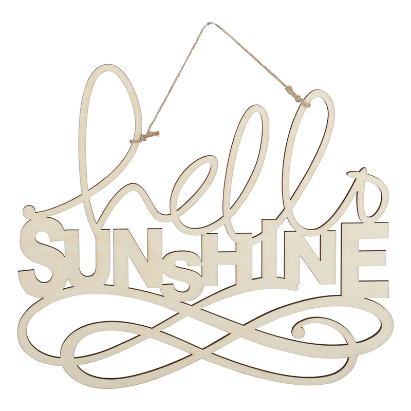 Urban Crafter Plywood Hello Sunshine Hanging Sign