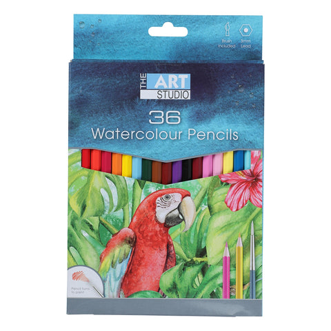 The Art Studio Premium Water Colour Pencils 36 Pack