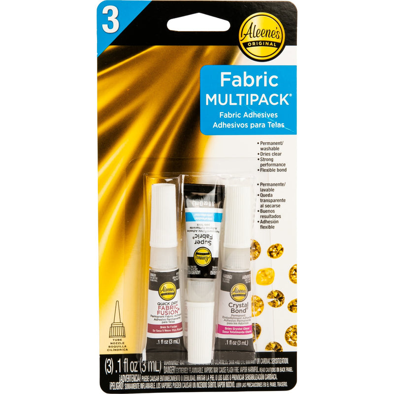 Dark Goldenrod Aleene's Assorted Fabric Fusion Glue 3/Pkg Glue