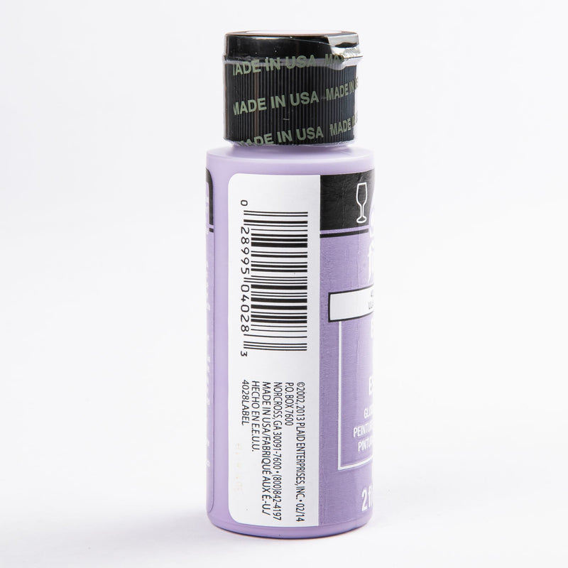 Dark Gray FolkArt Enamel Paint 59ml Purple Lilac Glass and Ceramic Paint