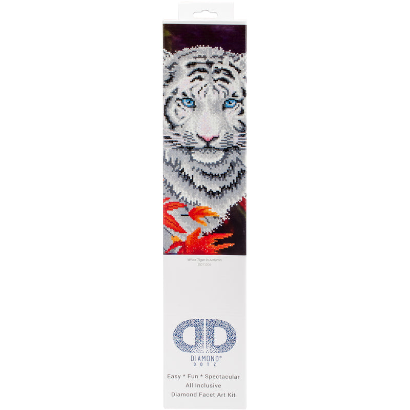 Firebrick Diamond Dotz Diamond Embroidery Facet Art Kit - White Tiger in Autumn 45x35cm Diamond Art