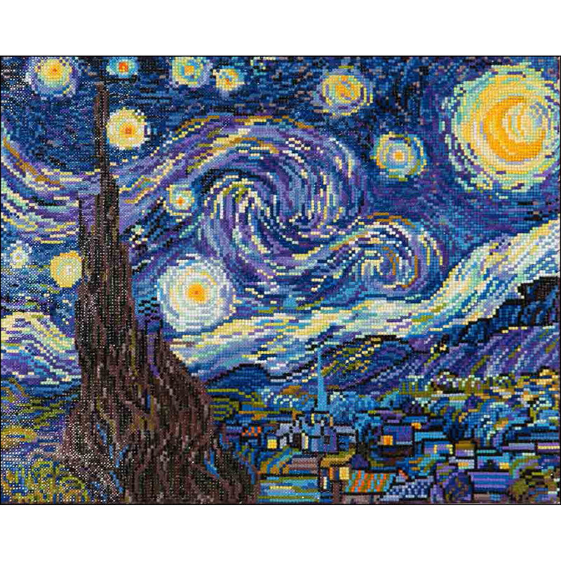Dark Slate Blue Diamond Dotz Diamond Embroidery Facet Art Kit 25x30cm   Starry Night (Van Gogh) Diamond Art
