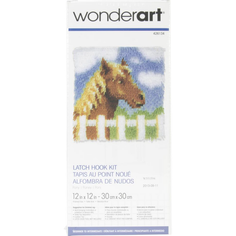 Dim Gray Wonderart Latch Hook Kit 30x30cm   Pony Latch Hook Kit