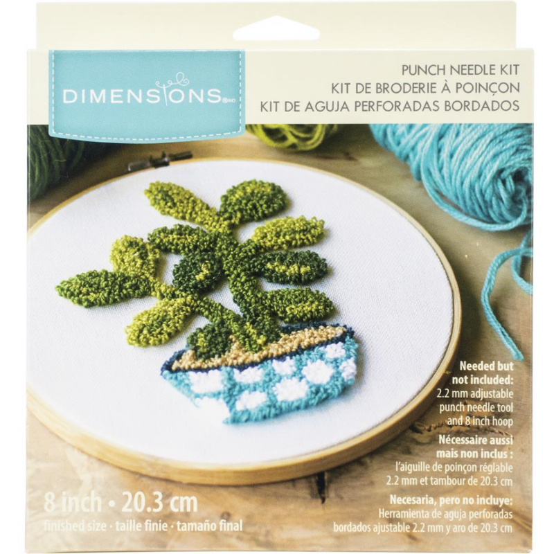 Olive Drab Dimensions Punch Needle Kit 20cm  Round  Jade Pin Needlework