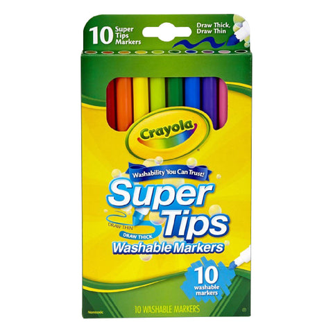 Crayola 10 Washable Super Tips Markers
