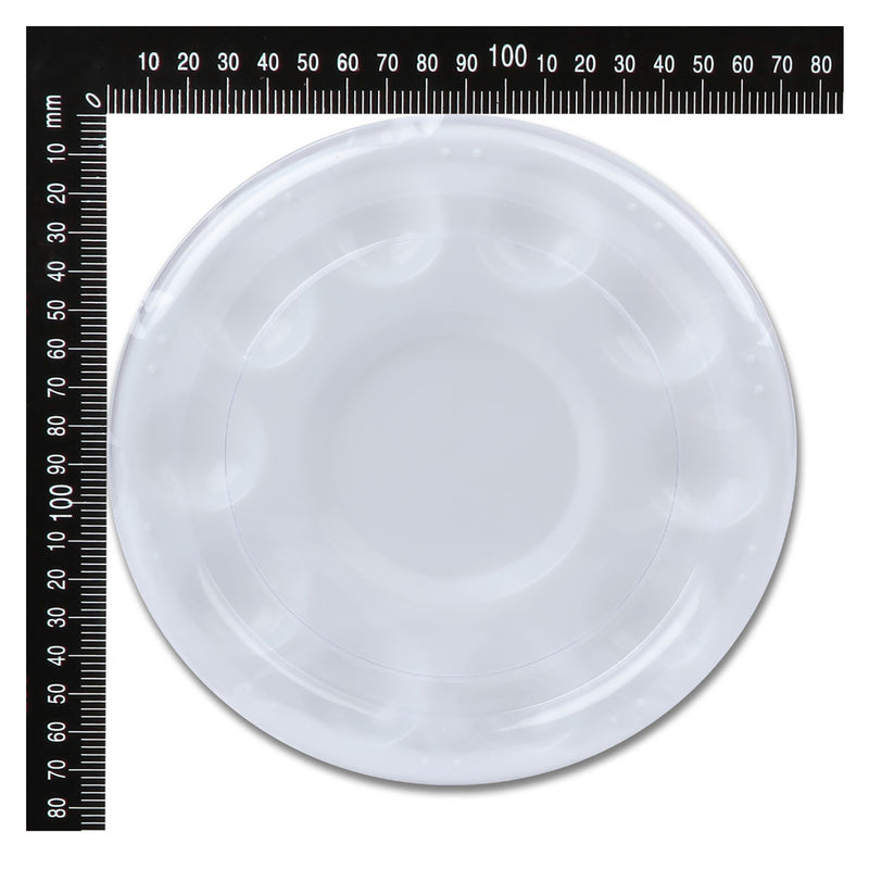Art Culture Round Plastic Palette with Lid 10 Wells