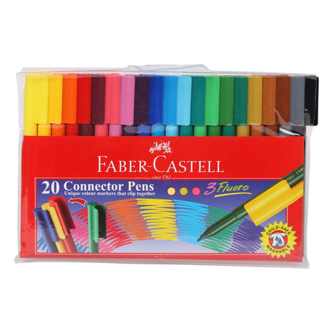 Faber Castell Connector Pens- S/20