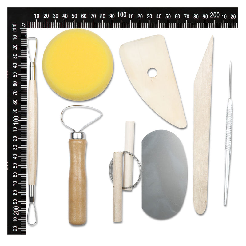The Clay Studio Pottery Tools Set 20cm 8 Pieces