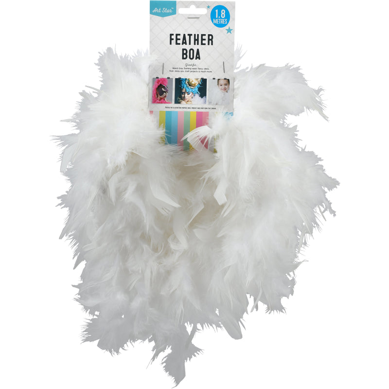 Gray Art Star Feather Boa 60gm 1.8m White Feathers