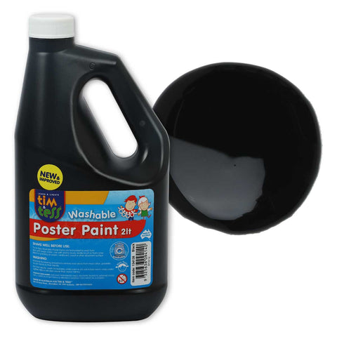 Tim & Tess Pre School Poster Paint 2L - Black