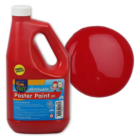 Tim & Tess Pre School Poster Paint 2L - Red