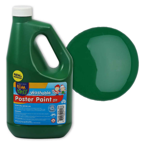 Tim & Tess Pre School Poster Paint 2L - Green