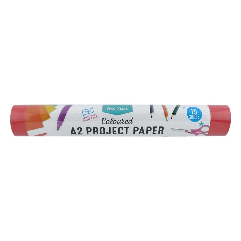 Art Star A2 Project Paper 15 Sheets Assorted Colours