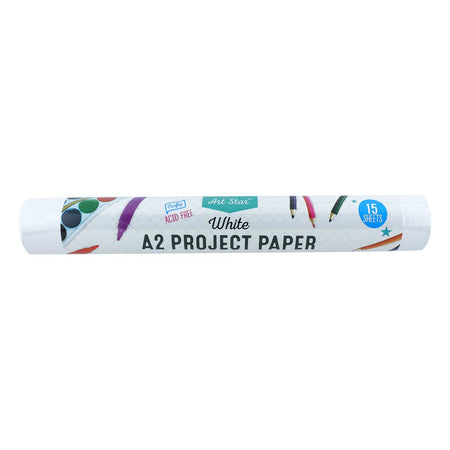 Art Star  A2 Project Paper 15 Sheets White