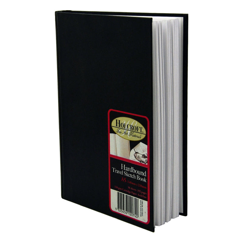 Black Holcroft A5 VHardbound Travel Sketch Book 110gsm 96 Sheets Pads