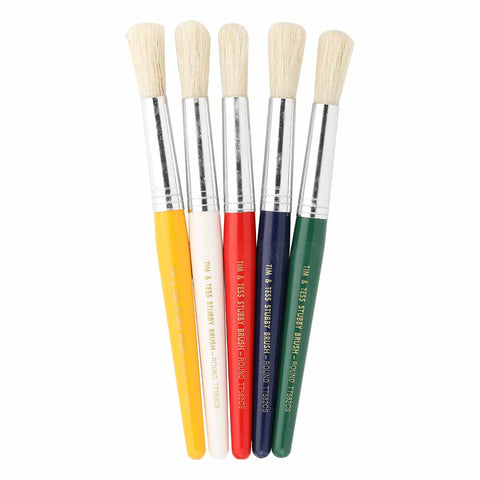 Tim & Tess Kids Brush Round - Brushes Are Sold Individually - A Random Colour Will Be Choosen