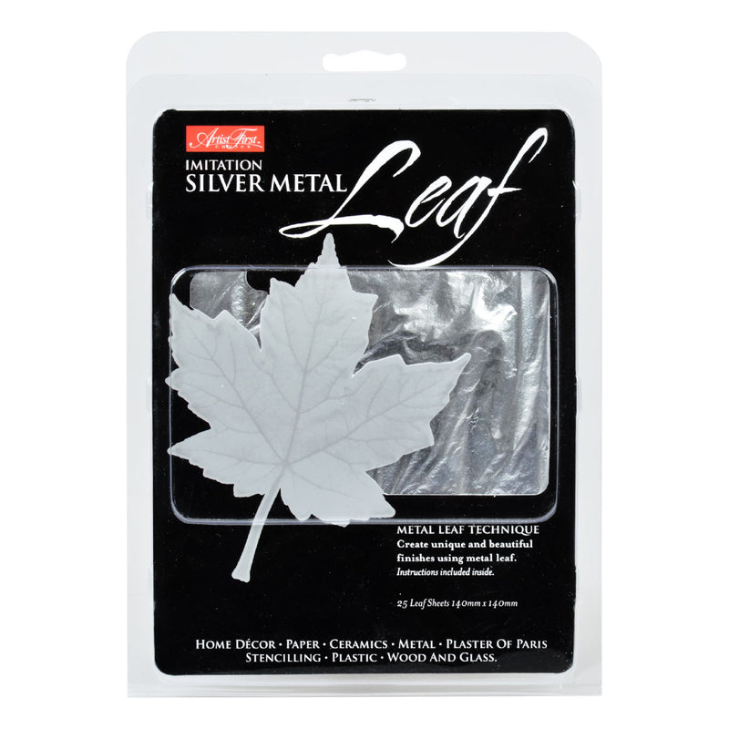 Gray Artist First Choice Silver Metal Leaf Composition 25 Sheets Gold Leaf And Accessories