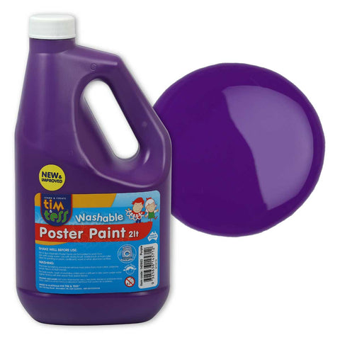 Tim & Tess Pre School Poster Paint 2L - Purple