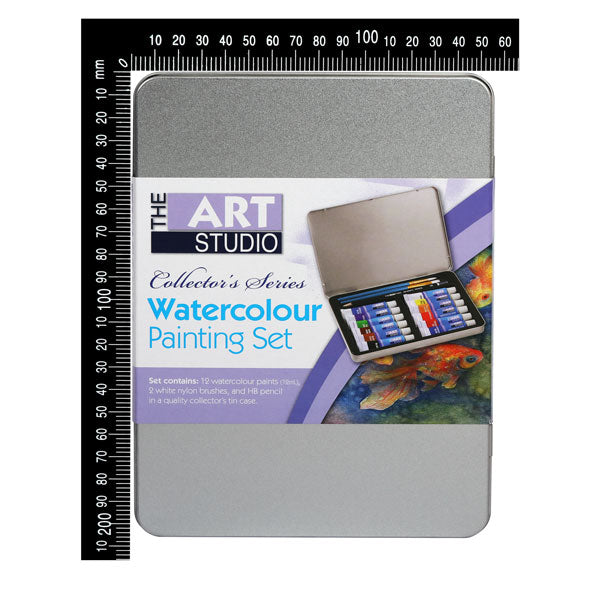 Dark Gray The Art Studio Collector's Series Watercolour Painting Tin Set Watercolour Paints