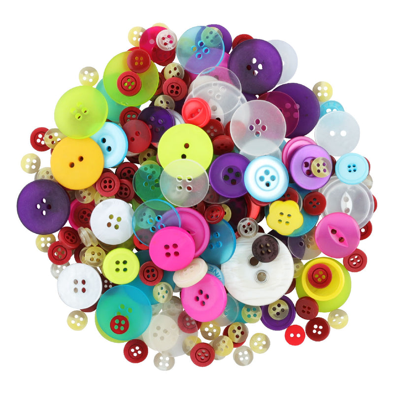 Funky Fashion Assorted Craft Buttons 6-30mm 340gm