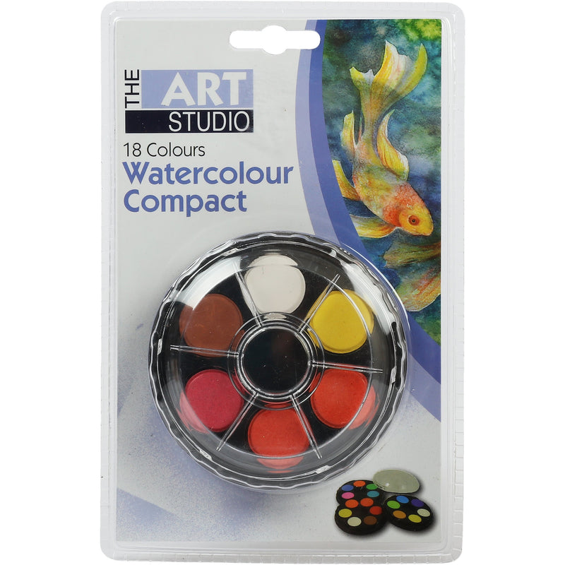 Goldenrod The Art Studio 3 Tier Watercolour Compact 18 Assorted Colours Watercolour Paints