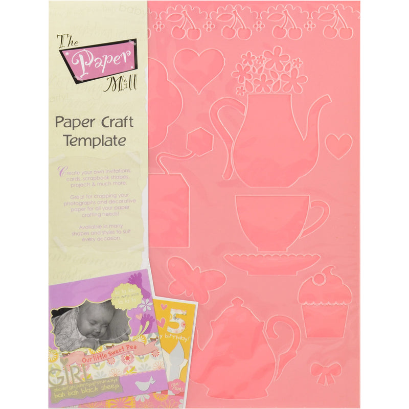 Light Salmon The Paper Mill Paper Craft Template Sweet Things Stencils And Templates