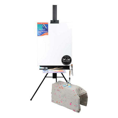 Black Eraldo Di Paolo Aluminium Studio Easel* Easels And Cases