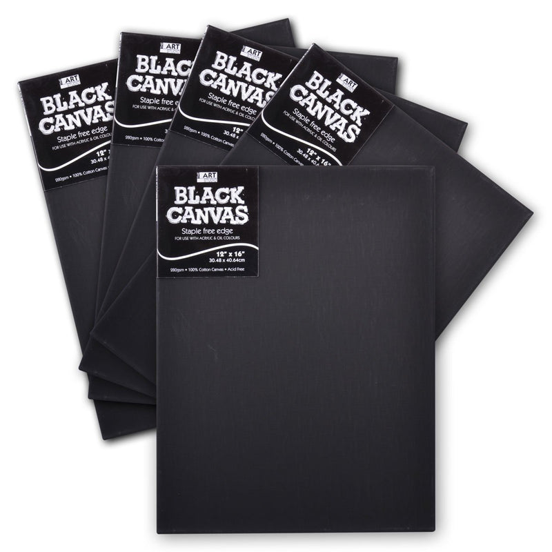 Dark Slate Gray The Art Studio 16mm Thin Bar Black Stretched Canvas 12 x 16 Inches 5 Pack Canvas